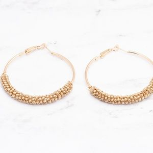 Jewelry - Beaded Hoop Earrings